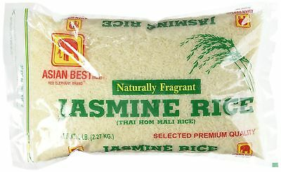 Asian Best Thai Hom Mali Jasmine Rice, 5lbs -