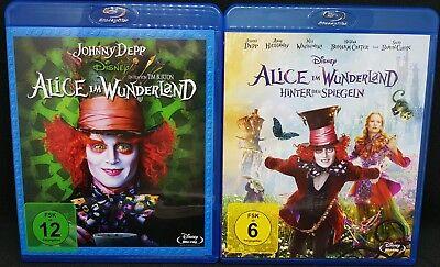 Wunderland Teil (DISNEY Alice Im Wunderland 1 / Hinter den Spiegeln 2 ( Teil 1+2 Blu Ray )  NEU)