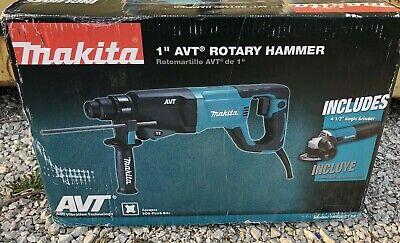 New Makita Hr2641x2 1 Avt Rotary Hammer 12 Angle Grinder Combo Kit