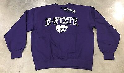 Gear For Sports Big Kansas State Wildcats Long Sleeve Pull-Over Purple SZ Large