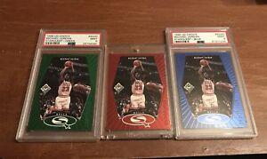 1998-99 Upper Deck UD Choice StarQuest Michael Jordan Blue, Red & Green... Psa 9