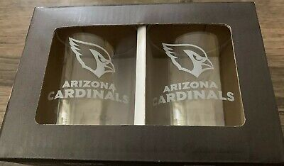 ARIZONA CARDINALS NFL Gameday 14 Ounce Rocks Beverage Drinking Glass Set  (2)
