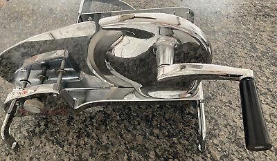 Vintage General Meat Slicer Hand Cranked Slicing Machine Model 420 Stainless