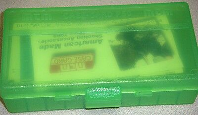 MTM Case Gard™ 50 Round Ammo Box Pistol Flip Top CLEAR GREEN P50-45-16 40-45 cal