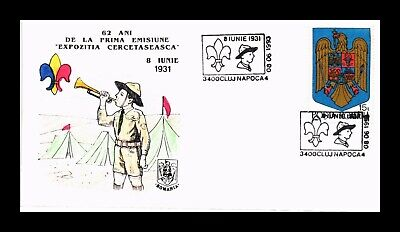 DR JIM STAMPS HAND COLORED BOY SCOUTS EXPOSITION ROMANIA MONARCH SIZE COVER