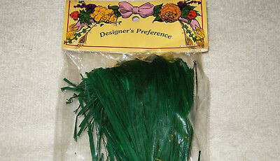 1.5 oz GREEN RAFFIA RIBBON ARTS CRAFTS CHRISTMAS WREATHS DESIGNERS PREFERENCE