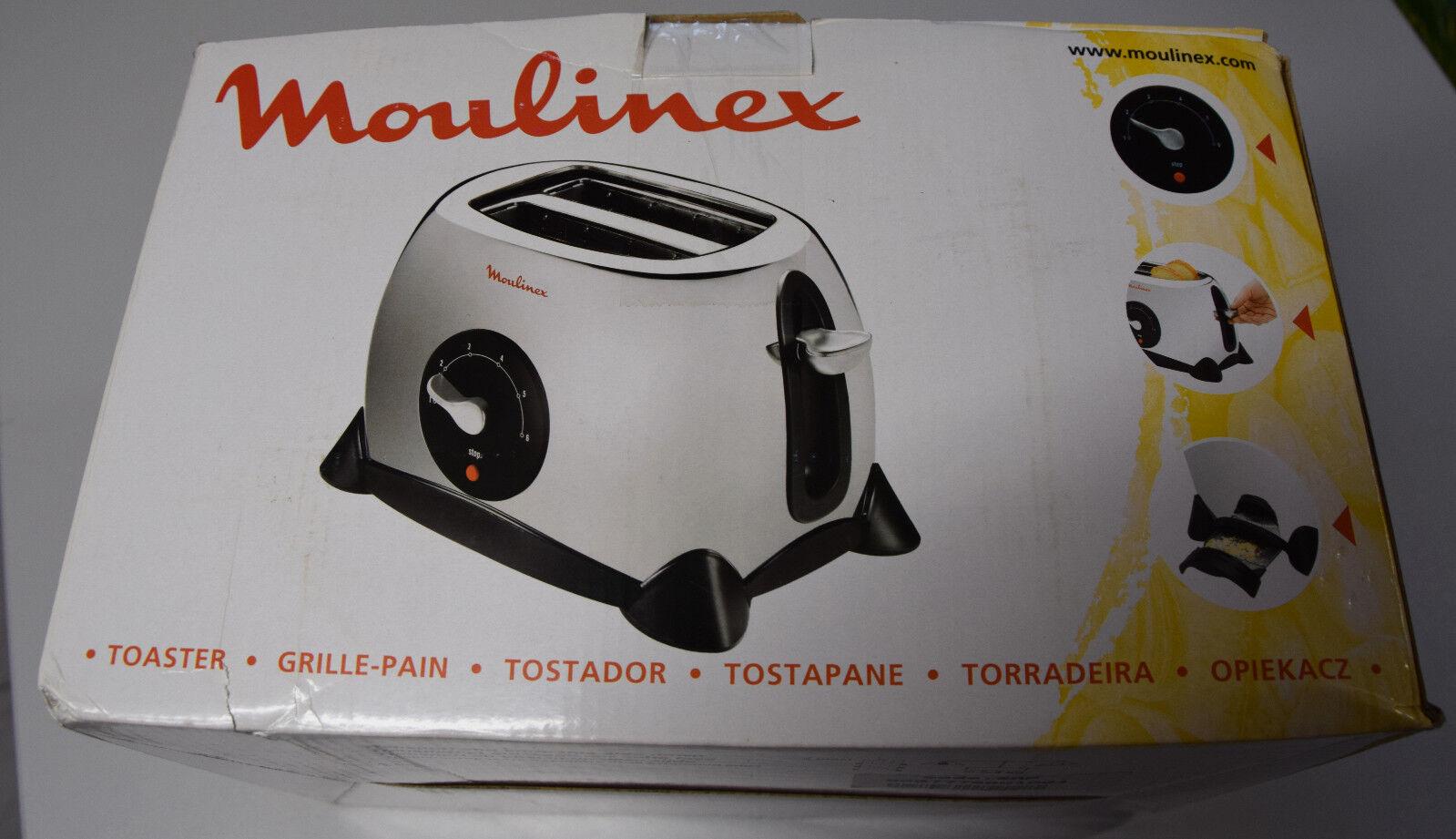 Moulinex Toaster mit Stop Knopf und Krümelschale - Grille Pain