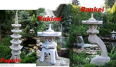 3 Stück japanische Steinlaterne Laterne Garten..