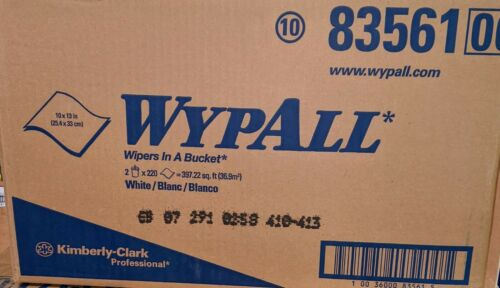 A CASE WYPALL 83561 Wipers In A Bucket 2 Buckets 220 Towels Wipes (LAST ONE)