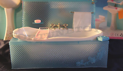 NEW FANCY LIFE DOLL HOUSE FURNITURE Bathing Fun PLAYSET (2820)