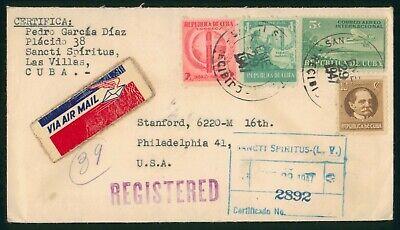 Mayfairstamps Habana 1947 Sancti Spiritus Reg Cigar Combo Airplane Cover wwo_595