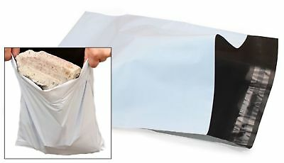 10pc WHITE Mail Bags Packaging Postal Polythene Plastic 9