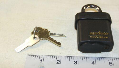 Medeco Assa Abloy padlock 54515 w/ 2 keys & key I.D. security tag - new in box