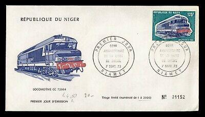 DR WHO 1973 NIGER FDC LOCOMOTIVE TRAIN CACHET  g18722