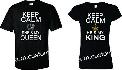 King and Queen Couple matching funny cute T-Shirts S-4XL