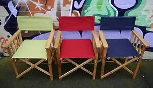 New Outdoor Furniture Timber Camping Directors Chairs Deck Dining Melbourne CBD Melbourne City Preview