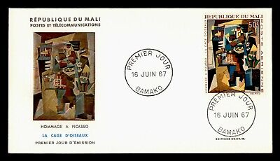 DR WHO 1967 MALI FDC PICASSO ART PAINTING CACHET  g18720