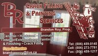 Crackfill & Painting serviced