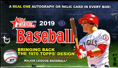 (1) 2019 Topps Heritage Baseball Factory Sealed Unopened Hobby Box ~ 24 Packs