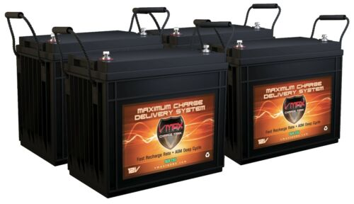 QTY4 SLR155 SOLAR WIND POWER BACKUP AGM Deep Cycle BATTERY HI CAPACITY