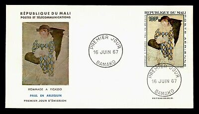 DR WHO 1967 MALI FDC PICASSO ART PAINTING CACHET  g18719