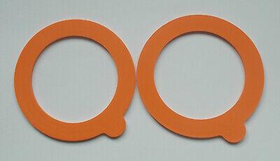 2 x Kilner Jar Replacement Rubber Seals Orange fit 0.35,0.5,1,1.5,2 Ltr Clip Top