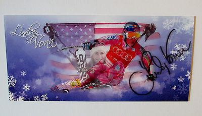 Lindsey Vonn  Alpine Ski Racer Signed Flicker Flasher Olympics Card Photo