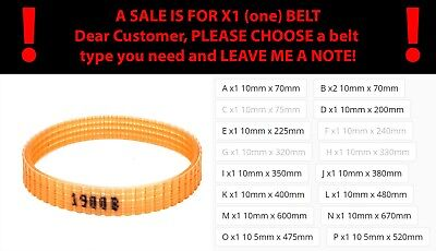 10Mm Electric Planer Drive Belt Apricot For Makita 1900B Girth 200mm 225mm 240mm