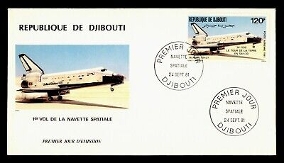 DR WHO 1981 DJIBOUTI FDC SPACE SHUTTLE CACHET  g20504