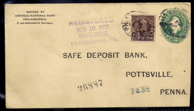 1903 Registered - Central National Bank in Philadelphia to Bank in Pottsville