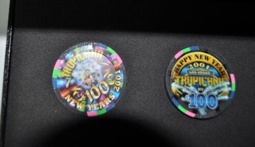 2001   Tropicana Las Vegas collectable casino chip set in case - uncirculated