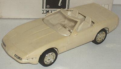 """Plastic Promo Car 1991 Chevrolet Corvette ZR-1 Off White 7"""" New in Box"""