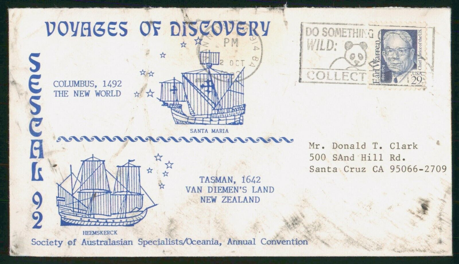 Mayfairstamps US Voyages Of Discovery Esecal Cover Wwp 57951 - $1.00