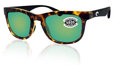 Costa Del Mar Copra Tortoise Black Frame Green Mirror 580G Glass Polarized (Costa Del Mar Wayfarer)
