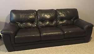 Beautiful Leather Couch and Chair For Sale!