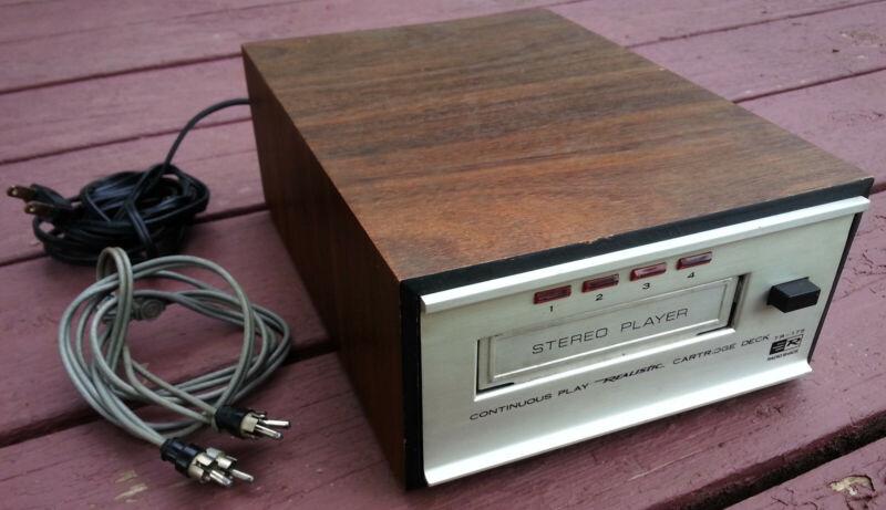 Realistic Radio Shack TR-175 8-Track Player with RCA Jacks - Works