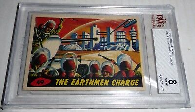 1962 Mars Attacks The Earthmen In Charge Card #49 BVG 8 Like PSA BGS Alien UFO