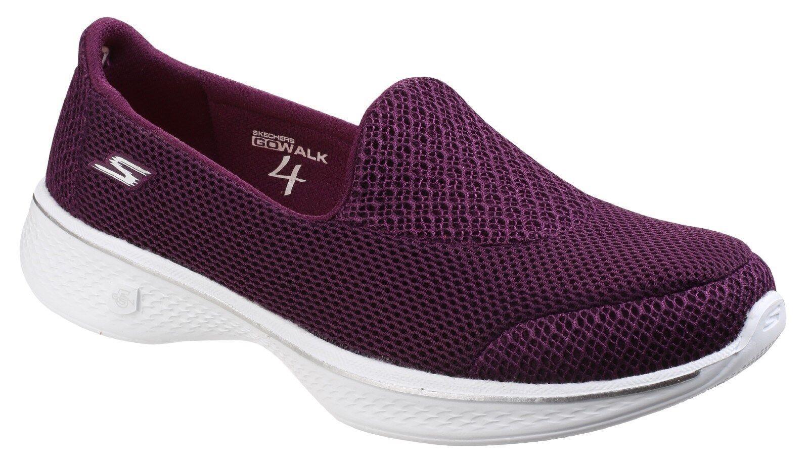 NEW SKECHERS Women Fitness Sneakers Trainers GO WALK 4 PURSUIT Purple