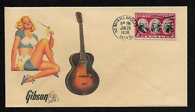 1936 Gibson ES-150 & Pin Up Girl Featured on Collector's Envelope *op461