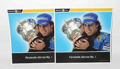 x2 Postcards  Renault F1 Team  Fernando Alonso  No.1