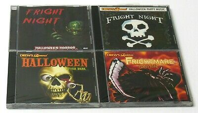 Halloween Theme Party Music (HALLOWEEN Party Music Scary Sounds Horror Themes Fright Night CD Lot NEW)