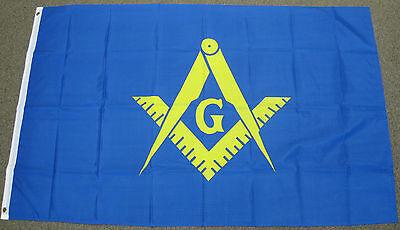 3X5 MASONIC YELLOW AND BLUE FLAG MASON FREE MASONS F516