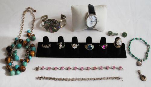 234 Grams Lot 925 Sterling Silver Jewelry Bracelets, Rings, ETC Scrap or Wear