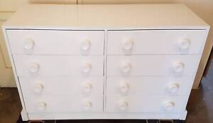 8 DRAWER TIMBER LOWBOY IN HIGH GLOSS WHITE Woody Point Redcliffe Area Preview