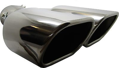 Twin Square Stainless Steel Exhaust Trim Tip Citroën Saxo 1996-2004