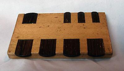vintage wooden Whist marker