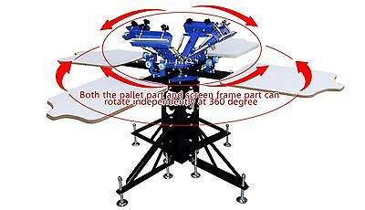 Four Color Four Station Silk Screen Printing Machine Press Diy T-shirt Printer