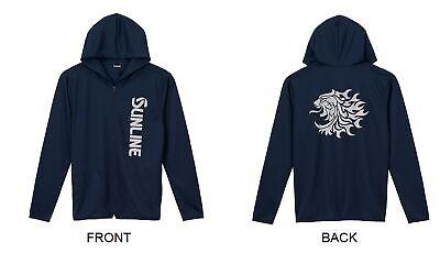 Sunline SUW-15028DPK Light Hoodie Dri Fit Long Sleeve Navy Size L (4443)