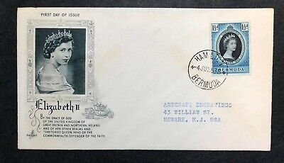 Bermuda 1953 Coronation FDC First Day cover