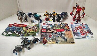 Lego Superheroes Lot of 4 Sets Iron Man, Black Panther, Thor